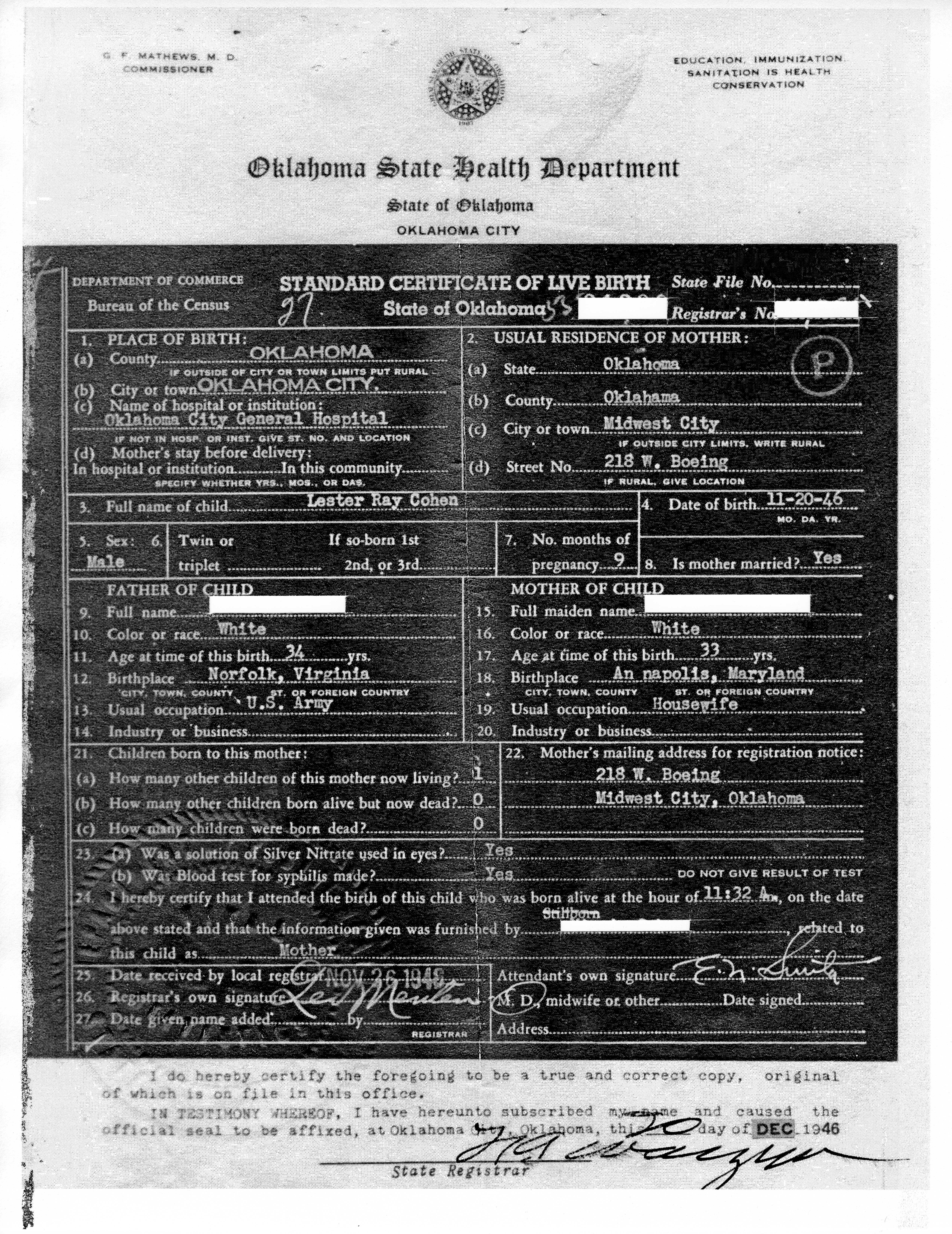 Stillborn wordfeeder birth certificate the word stillborn typed in then crossed out ive enclosed that copy for you to see take good care of it aiddatafo Images