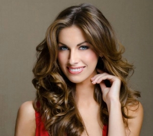 Katherine Webb Red Dress
