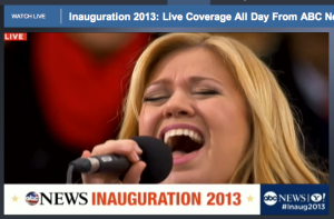 Kelly Clarkson at Inauguration