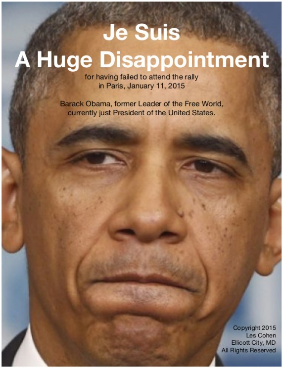 Je Suis A Huge Disappointment 011315